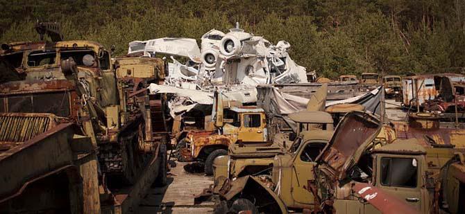 Путешествие по Чернобыльской зоне отчуждения на мотоцикле