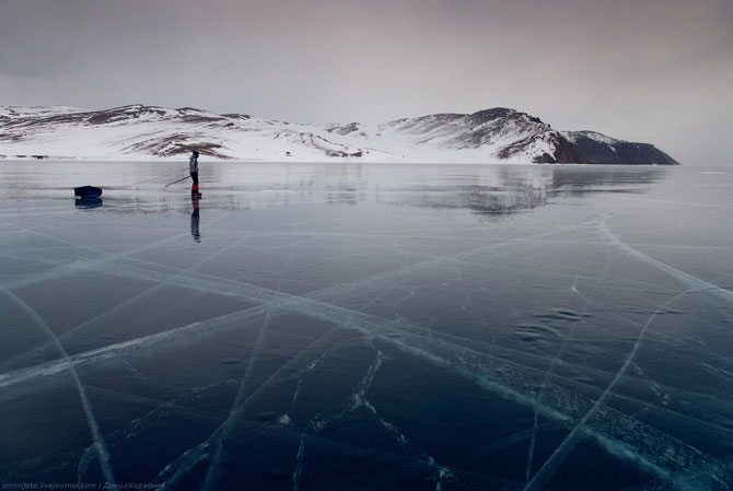 400 км на коньках по Байкалу